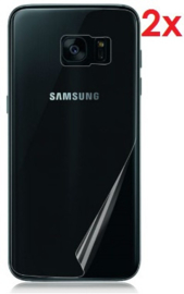 2 STUKS Galaxy S7 Edge Transparant Folie Achterkant Protector