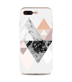 iPhone 7 Plus / 8 Plus Geometrisch TPU Hoesje Driehoekige Bergen
