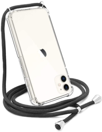 iPhone 11 Crossbody Transparant TPU Hoesje met Koord