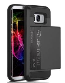 Galaxy S8 Plus Slide Armor Hoesje Met Pashouder