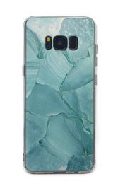 Galaxy S8 Plus Soft TPU Hoesje Marmer Design Azuurblauw