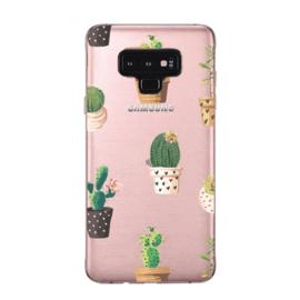 Galaxy Note 9 Soft TPU Hoesje Cactus Print
