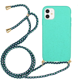 iPhone 11 Crossbody TPU Hoesje met Koord Mint