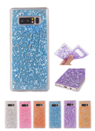 Galaxy Note 8 TPU Bling Glitterhoesje Bladgoud - Look
