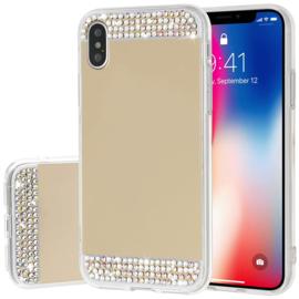 iPhone Xr Bling Spiegel Hoesje Met Strass-Steentjes
