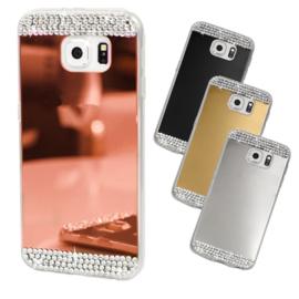 Galaxy S9 Bling Spiegel Hoesje Met Strass-Steentjes