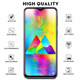Galaxy A20E Full Cover Full Glue Tempered Glass Protector