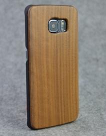 Galaxy S6 Edge Echt Houten Hoesje - Wood Case - 4 Houtsoorten