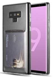 Galaxy Note 9 Transparant TPU Hoesje Met Pasjesvakje