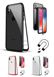 iPhone X / Xs Magnetisch Voor + Achter Hoesje + Tempered Glass