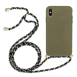 iPhone Xs Max Crossbody TPU Hoesje met Koord Groen