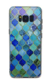 Galaxy S8 Plus Soft TPU Hoesje Marmer Design Mozaïek Ruiten