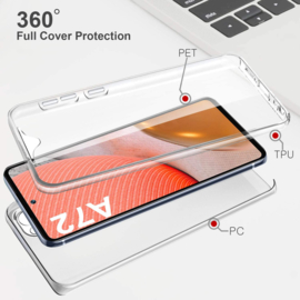 Galaxy A72 360° Ultra Clear Hybrid PC + TPU Hoesje