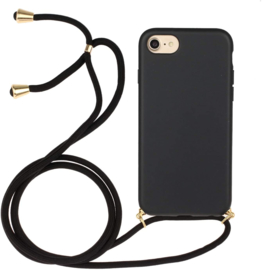 iPhone 6 Plus / 6S+ Crossbody TPU Hoesje met Koord Zwart