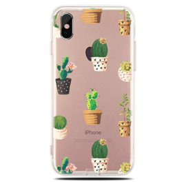 iPhone Xr Soft TPU Hoesje Cactus Print