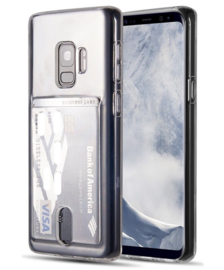 Galaxy S9 Transparant TPU Hoesje Met Pasjesvakje