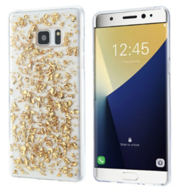 Galaxy S6 Edge Plus TPU Bling Glitterhoesje Bladgoud - Look