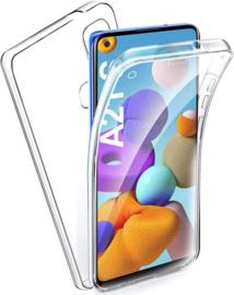 Galaxy A21s 360° Ultra Clear Hybrid PC + TPU Hoesje