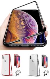 iPhone Xr Magnetisch Voor + Achter Hoesje + Tempered Glass