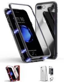 Iphone 7 Plus / 8 Plus Magnetisch Voor + Achter Hoesje + Glass
