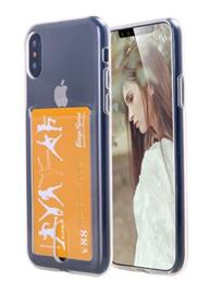 iPhone Xs Max Transparant TPU Hoesje Met Card Slot - Pasjesvakje