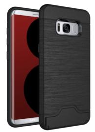 Galaxy S8 Plus Card Slot Armor Hoesje met Pasjesvak