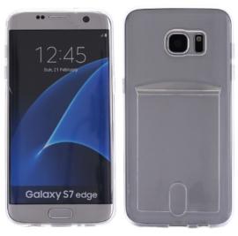 Galaxy S7 Edge TPU Hoesje Met Card Slot - Pasjesvakje