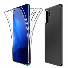 Huawei P30 Pro 360° Full Cover Transparant TPU Hoesje