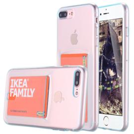 iPhone 7 Plus / 8 Plus TPU Hoesje Met Card Slot - Pasjesvakje