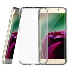 Galaxy S6 Edge Soft TPU Hoesje Transparant / Kleur