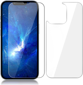 iPhone 13 Pro Max Front + Back Tempered Glass Protector
