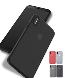 iPhone Xs Max Soft Plastic Matte Hoesje Zwart / Grijs / Wit / Rood
