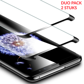 2 STUKS Galaxy S9 Case Friendly 3D Tempered Glass Screen Protector
