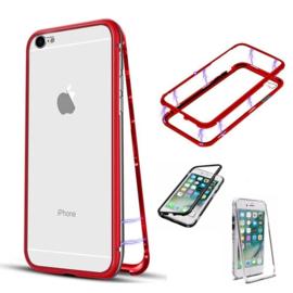 Iphone 6 Plus / 6S+ Magnetisch Voor + Achter Hoesje + Glass