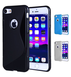 Iphone 7 / 8 S-Line TPU Hoesje Transparant / Kleur