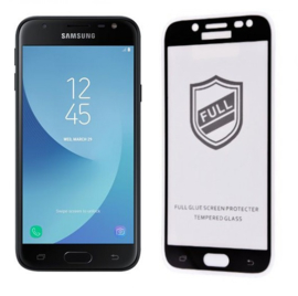 Galaxy J3 (2017) Full Cover Full Glue Tempered Glass Protector