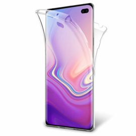 Galaxy S10 Plus 360° Full Cover Transparant TPU Hoesje