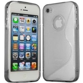 Iphone 4 / 4S S-Line TPU Hoesje Transparant / Kleur