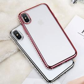 iPhone Xs Max Bling Hoesje Met Bergkristallen Strass-Steentjes