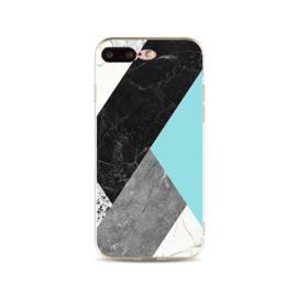 iPhone 7 Plus / 8 Plus Geometrisch TPU Hoesje Marmer Zwart / Groen