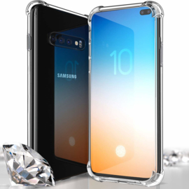 Galaxy S10 Plus Transparant Soft TPU Air Cushion Hoesje