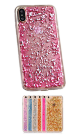 iPhone Xs Max TPU Bling Glitterhoesje Bladgoud - Look