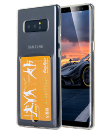 Galaxy Note 8 Transparant TPU Hoesje Met Pasjesvakje