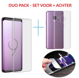SET 2 STUKS Galaxy S9 Premium 3D Folie Screen + Back Protector