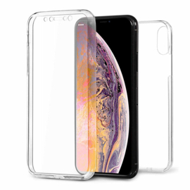 iPhone Xs Max 360° Full Cover Transparant TPU Hoesje