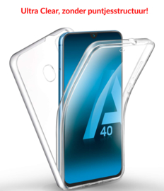 Galaxy A40 360° Ultra Clear Hybrid PC + TPU Hoesje