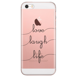 iPhone 5 / 5S / SE Soft TPU Hoesje Love Laugh Life Print