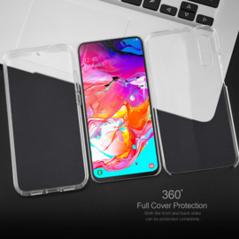 Galaxy A70 360° Ultra Clear Hybrid PC + TPU Hoesje