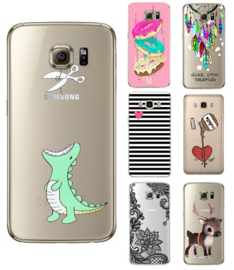 Galaxy S7 Edge Soft TPU Hoesje Met Diverse Prints