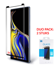 2 STUKS Galaxy Note 9 Case Friendly 3D Tempered Glass Screen Protector